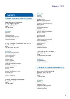 Cuadro médico Almudena Albacete