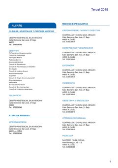 Cuadro médico Almudena Teruel