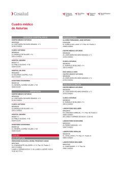 Cuadro médico Cosalud Asturias