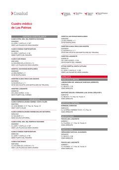 Cuadro médico Cosalud Las Palmas