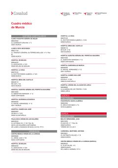 Cuadro médico Cosalud Murcia
