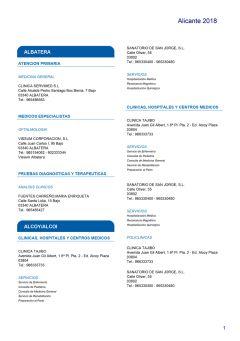 Cuadro médico HNA Alicante