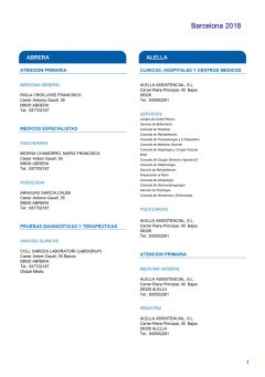 Cuadro médico HNA Barcelona