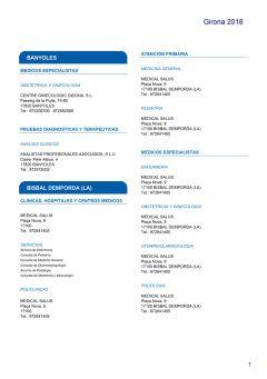 Cuadro médico HNA Girona