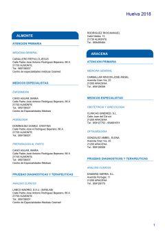 Cuadro médico HNA Huelva