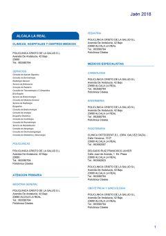Cuadro médico HNA Jaén