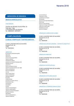Cuadro médico HNA Navarra