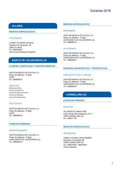 Cuadro médico HNA Ourense