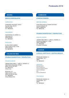 Cuadro médico HNA Pontevedra