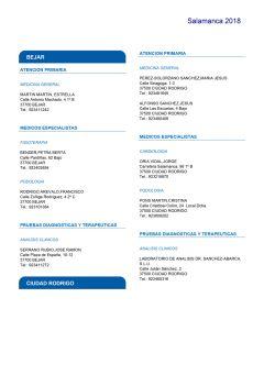 Cuadro médico HNA Salamanca