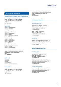 Cuadro médico HNA Sevilla