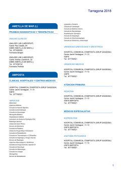 Cuadro médico HNA Tarragona