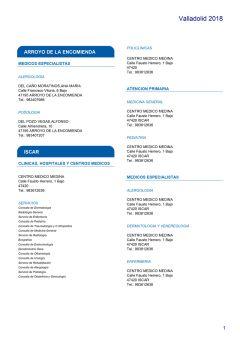 Cuadro médico HNA Valladolid