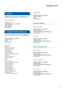 Cuadro médico HNA Zaragoza