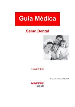 Cuadro médico Mapfre Dental Cáceres