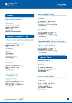 Cuadro médico Previsora General Ourense