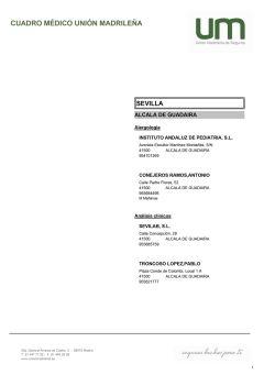 Cuadro médico Unión Madrileña Sevilla